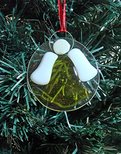 Amazon Com Yellow Angel Handmade Fused Glass Sun Catcher Christmas