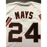 $249 » Autographed/Signed Willie Mays San Francisco White Baseball Jersey Say Hey Holo COA