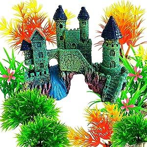 OrgMemory Aquarium Décor Ornaments, Aquarium Castle, Fish Tank Decorations, Home Aquarium Ornament