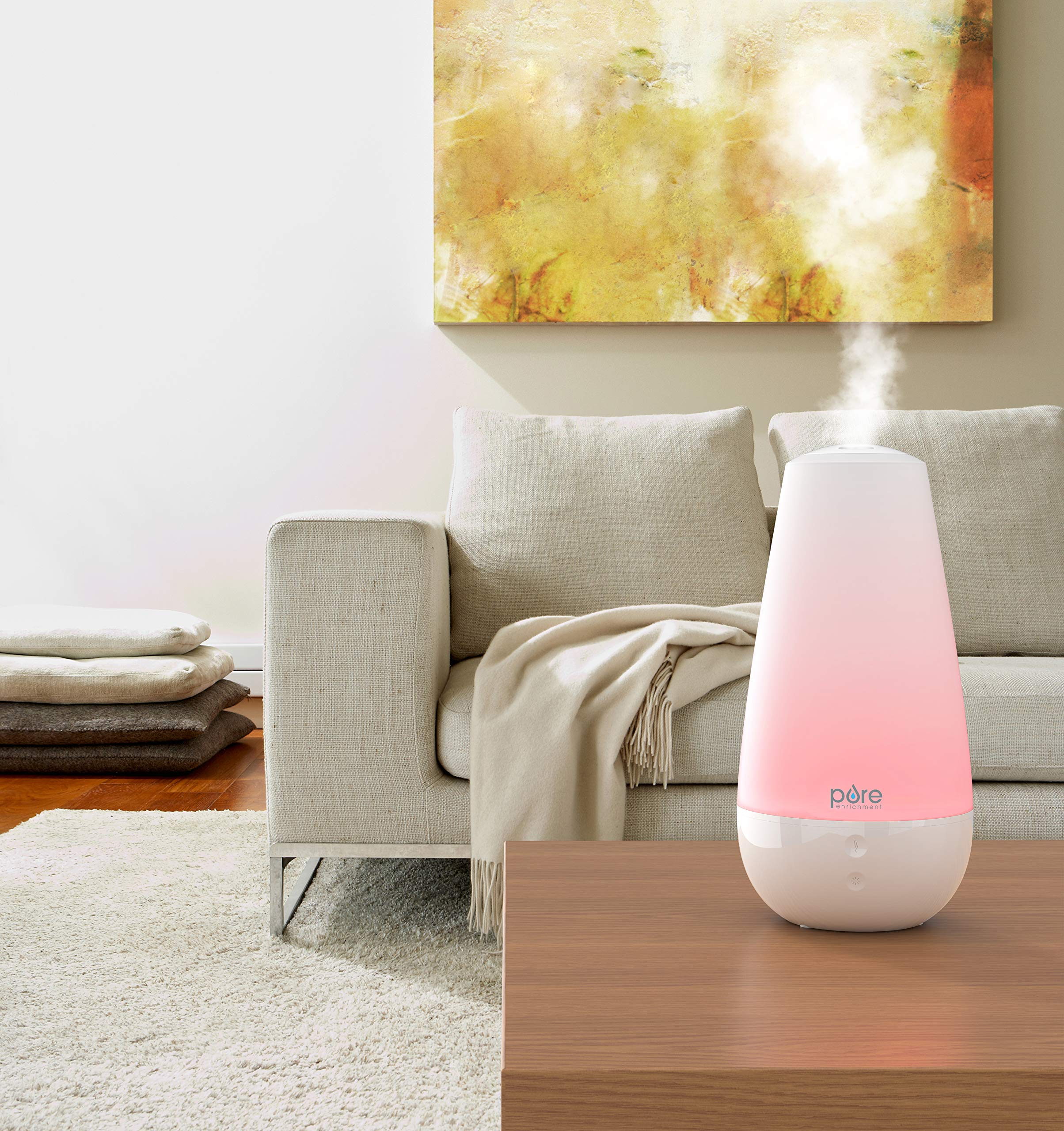 Pure Enrichment PureSpa XL - Extra-Large Premium Aroma Diffuser with 2,000ml Tank - 3-in-1 Unit Also Functions as a Single-Room Humidifier and Intelligent Mood Light by Pure Enrichment (Image #2)