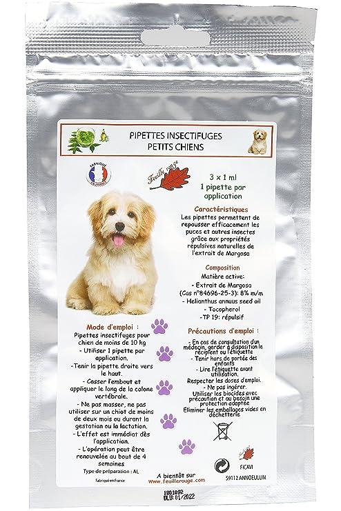 Pipetas insectifuges pequeños perros (3 * 1 ml)