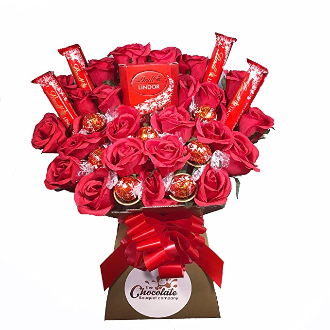 Lindt Lindor Chocolate Bouquet: Amazon.co.uk: Grocery