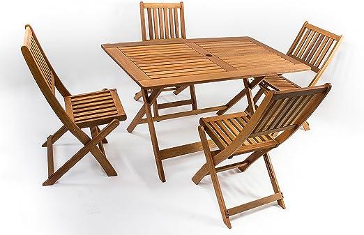 Tavolo In Legno Da Giardino Pieghevole.Avanti Trendstore Malino Set Da Giardino Con 1 Tavolo