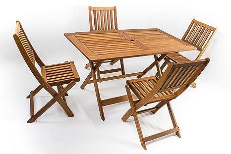 Tavolo Da Giardino Con 4 Sedie.Avanti Trendstore Malino Set Da Giardino Con 1 Tavolo Pieghevole