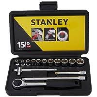 Stanley Socket set 15PC Metric 1/4Sqdr 0 86 775