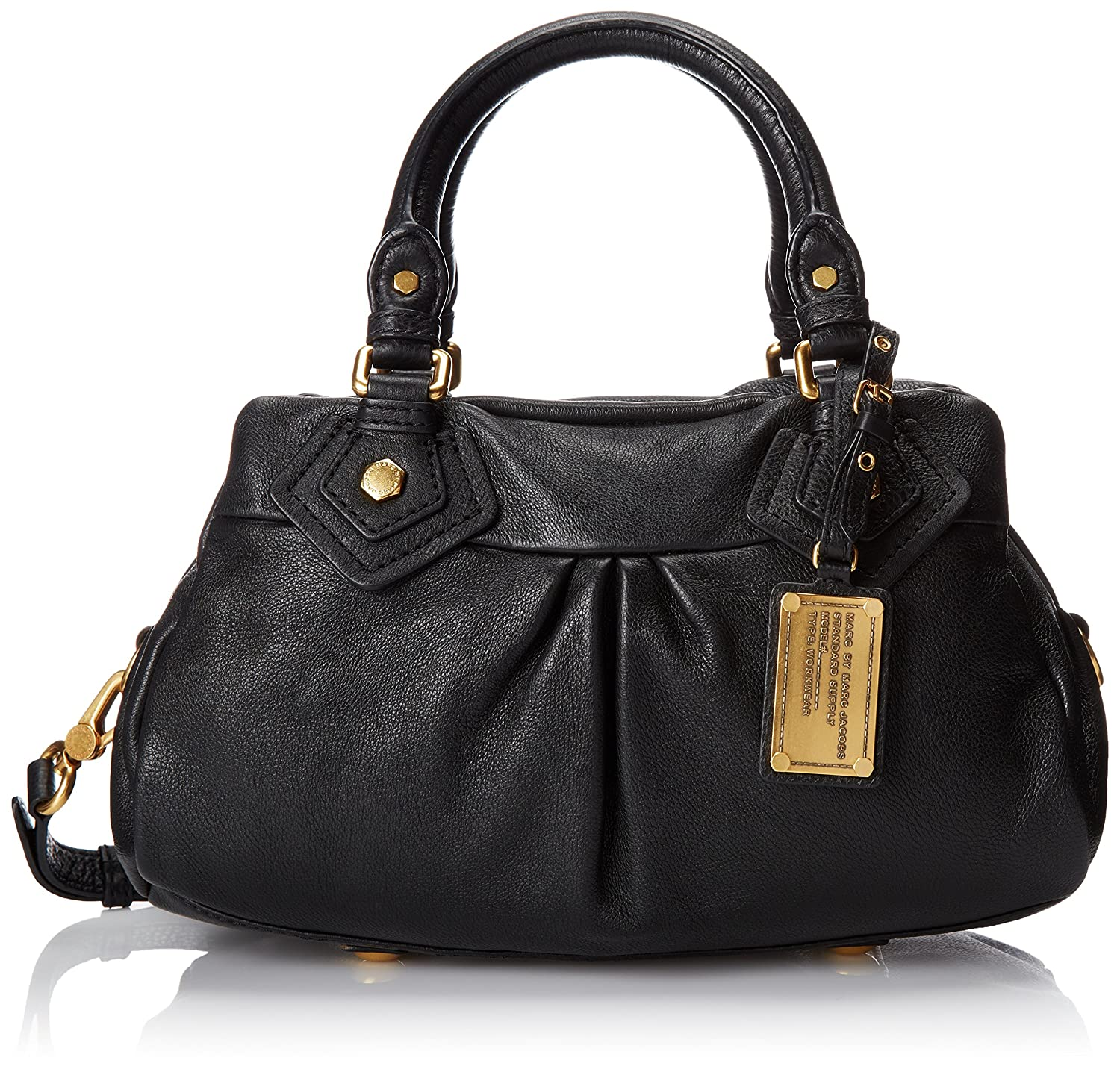 5b02ff9a02b4 Amazon.com  Marc by Marc Jacobs Classic Q Baby Groovee Satchel Black One  Size  Marc By Marc Jacobs  Clothing
