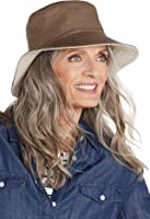 Coolibar UPF 50+ Women's Reversible Bayside Bucket Hat - Sun Protective