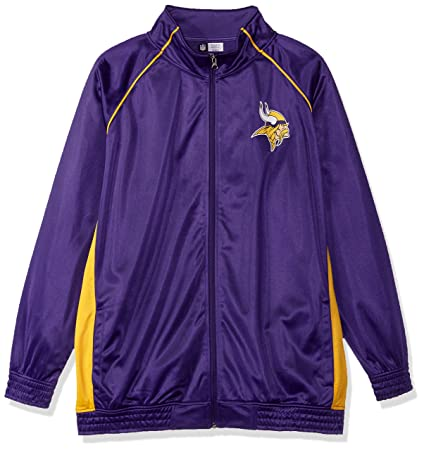 new arrival 83377 69bff NFL Team Apparel NFL Womens Vikings Poly Tricot Track Jacket