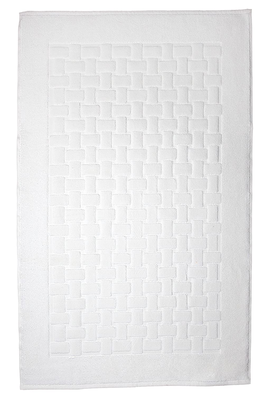 Casilin Ritz Combed Cotton Bath Mat 60 x 60 cm Ivory Ourson