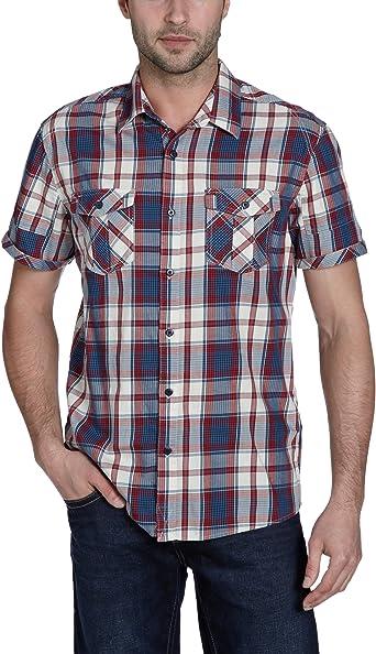 BLEND - Camisa para Hombre, Talla 48, Color Rojo 197: Amazon.es: Ropa y accesorios