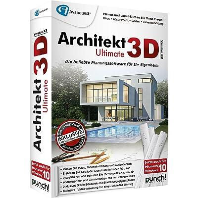 Avanquest Architekt 3D X8 Ultimate - Software de diseño automatizado (CAD) (Alemán, PC, 1GHz Pentium, 512 MB, 5500 MB, 1024 x 768 DVD-ROM)