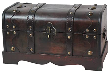 Quickway imports small pirate style wooden treasure chest amazon quickway imports small pirate style wooden treasure chest publicscrutiny Image collections
