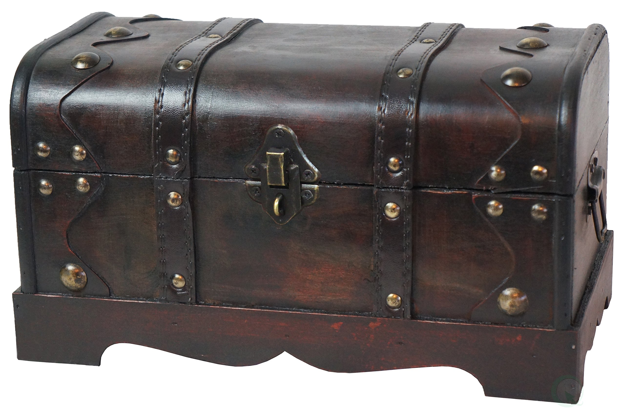 Vintiquewise(TM Small Pirate Style Wooden Treasure Chest