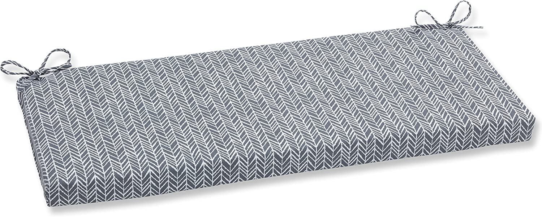 Pillow Perfect Outdoor Indoor Herringbone Slate Bench Cushion