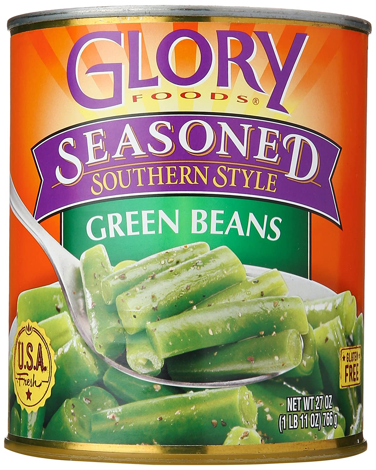 Glory Foods String Beans, 27 oz