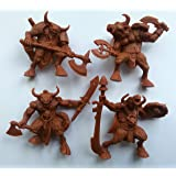 Minotaurs 54 mm 1/32 - 4 Fantasy Figures Tehnolog Fantasy Battles Russian Toy Soldiers DND Action Miniatures