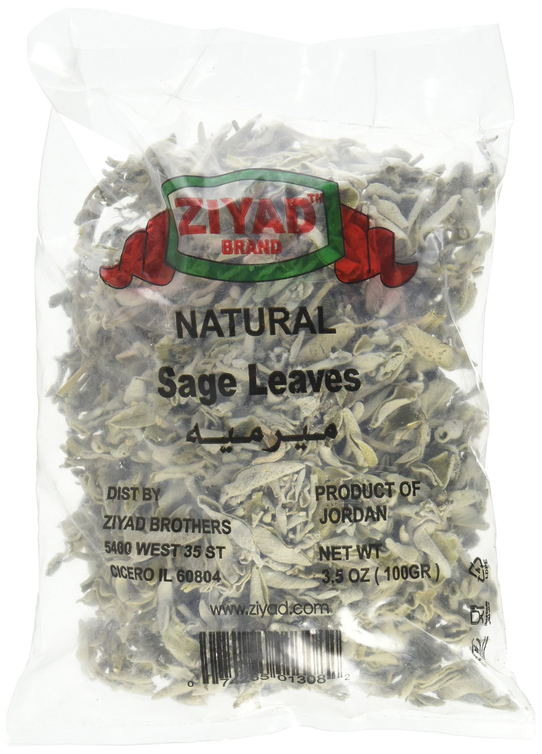 Ziyad Premium Sage Leaves Bunch, 100 Gram (Pack of 24)