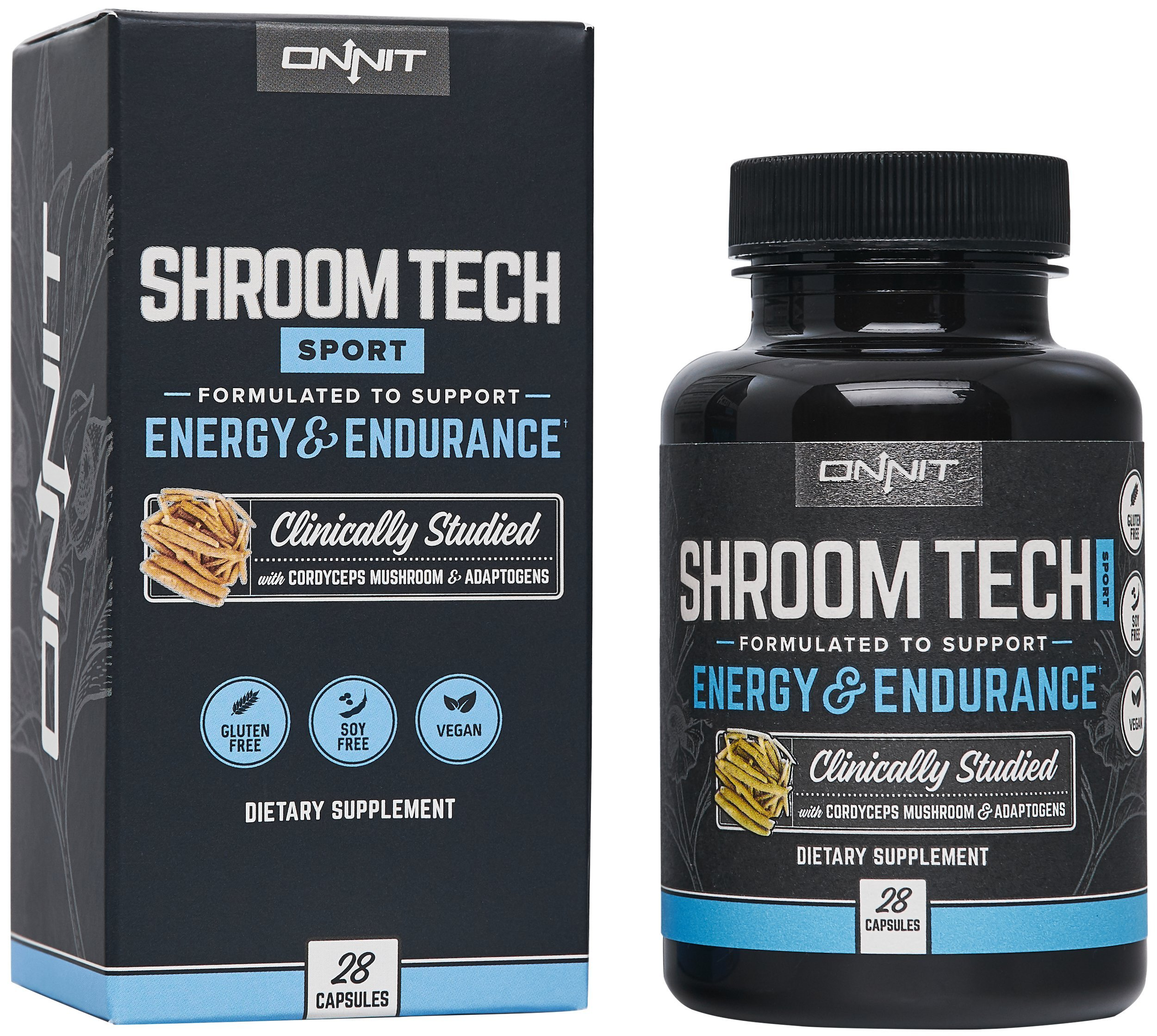 Onnit Shroom Tech Sport: Clinically Studied Preworkout Supplement with Cordyceps Mushroom (28ct) by ONNIT