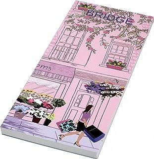 Simon Lucas Designer Bridge Score Pad - Roses and Blooms - Rubber Bridge