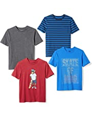 2b812bcb41bfda Amazon Brand - Spotted Zebra Boys' Toddler & Kids 4-Pack Short-Sleeve
