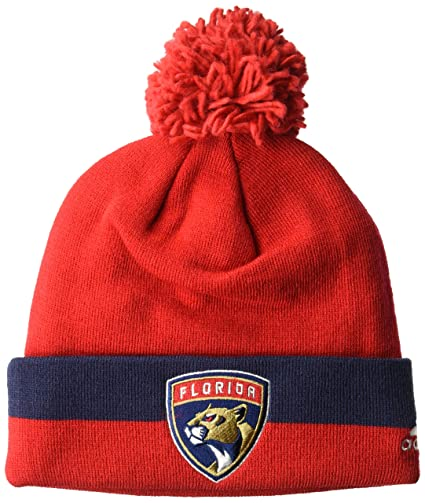 sale retailer 95e61 9142b ... clearance nhl florida panthers cuffed pom knit hat one size navy adeb5  c2709 ...