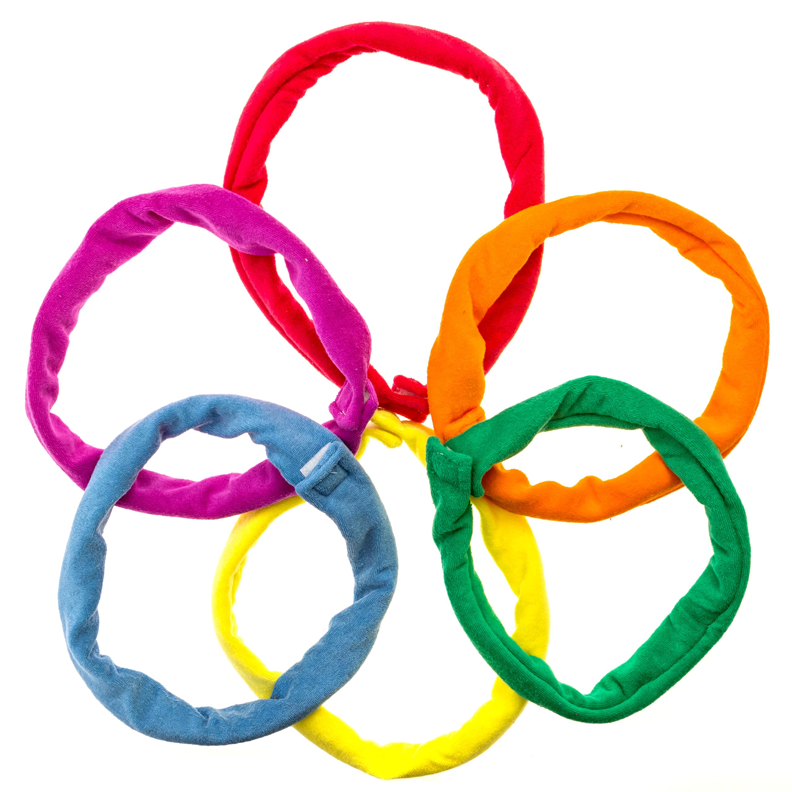 Chew Bands Necklaces 6-Pack Terry Cloth Super Absorbent Alternative to Chewing Shirts and Clothing by Special Supplies