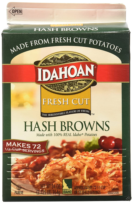 90486738 Idahoan Fresh Cut Premium Hash Browns, Made with Gluten-Free 100-Percent  Real Idaho Potatoes, 34oz...