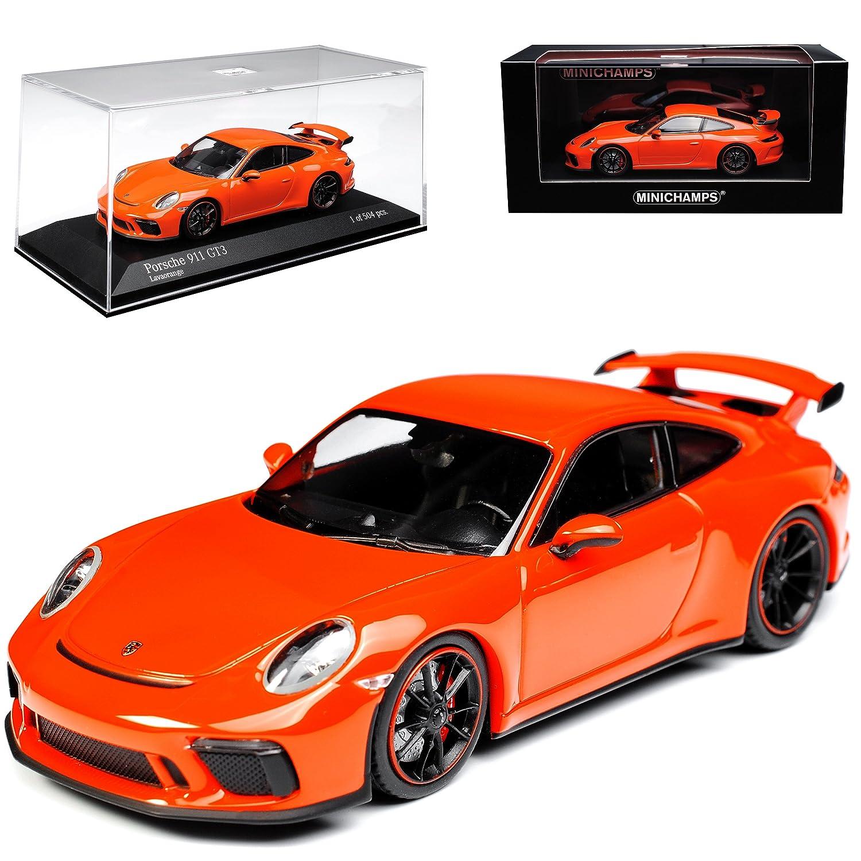 Minichamps Porsche 911 991 II GT3 Orange Modell Ab 2012 Ab Facelift 2015 limitiert 1 von 504 1/43 Modell Auto mit individiuellem Wunschkennzeichen