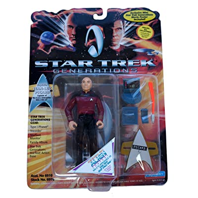 STAR TREK Generations Captain Jean-Luc Picard Action Figure: Toys & Games