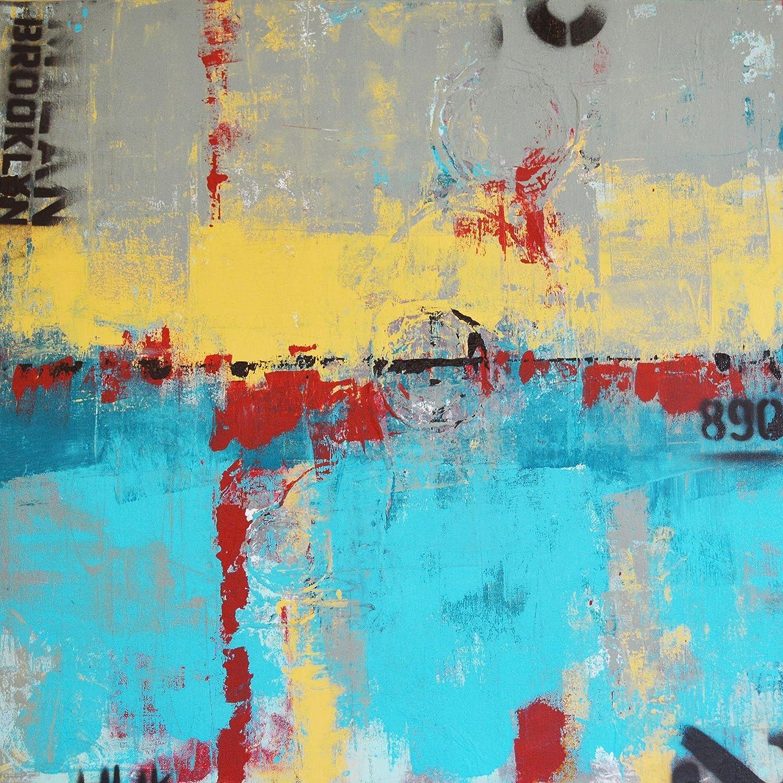"B0161K43P0 Brooklyn890, abstract, mixed-media painting, 24"" x 24"" x 1.5"" 915PdcbIc5L._SL1500_"