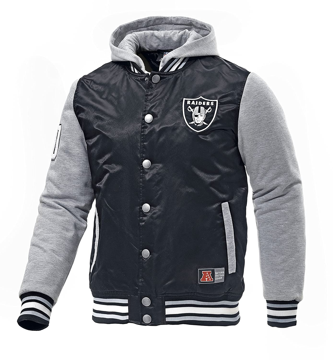 san francisco 90f7f 7f105 Official Majestic Besson 'Oakland Raiders' NFL Varsity ...