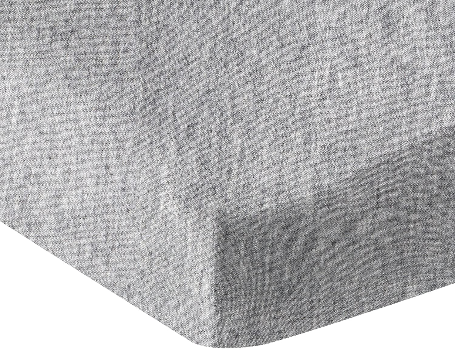 AmazonBasics Heather Jersey Fitted Bedsheet for Cribs, Light Gray
