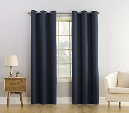 918 Montego Casual Textured Grommet Curtain Panel, 48u0026quot; X 84u0026quot;,