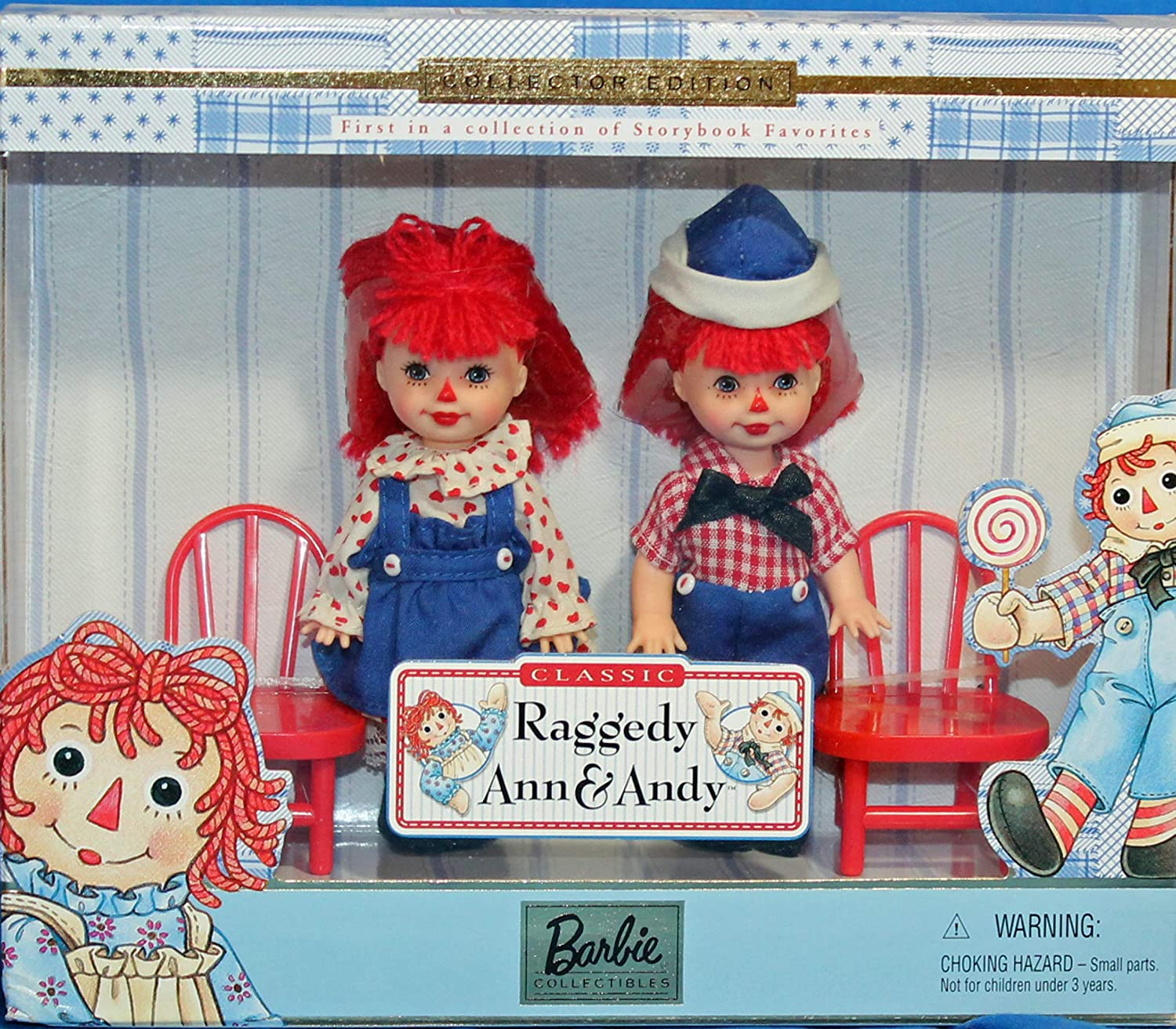 Barbie Raggedy Ann /& Andy Tommy /& Kelly Storybook Collectibles