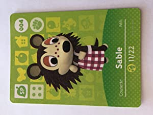 Amiibo Card Animal Crossing Happy Home Design Card SABLE 004/100 SP