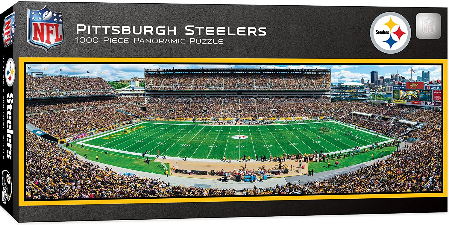 22c39567a87 Amazon.com  MasterPieces NFL Pittsburgh Steelers 1000 Piece Stadium  Panoramic Jigsaw Puzzle  Toys   Games