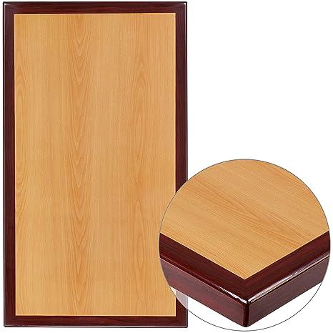 Amazon.com: Mesa rectangular de resina de Two-Tone Cherry y ...