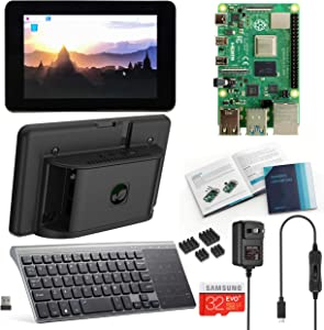 Vilros Raspberry Pi 4 Desktop with Official 7 Inch Touchscreen and 10 inch Keyboard/Touchpad (4GB RAM)