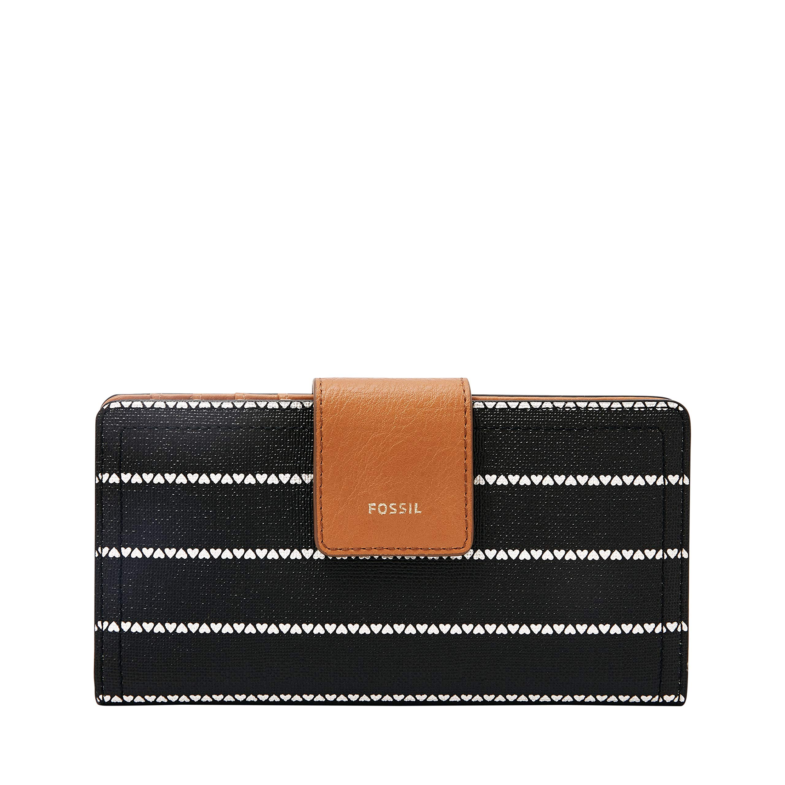 Fossil Logan RFID Tab Wallet, Black/White by Fossil