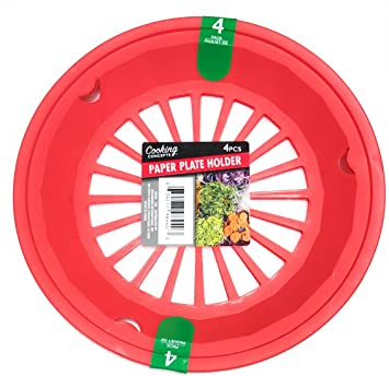 Tomato Red 10-3/8\u0026quot; Plastic Paper Plate Holders ...  sc 1 st  Amazon.com & Amazon.com: Tomato Red 10-3/8\