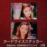 安室奈美恵 カードサイズステッカー(ハンドメイド)H9