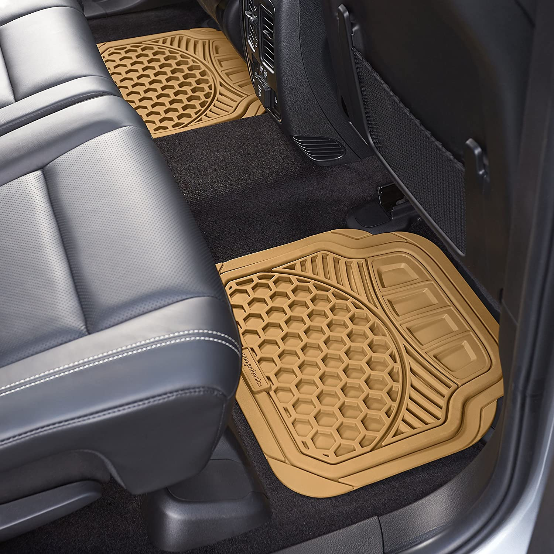 Basics 3 Piece Car Floor Mat Gray