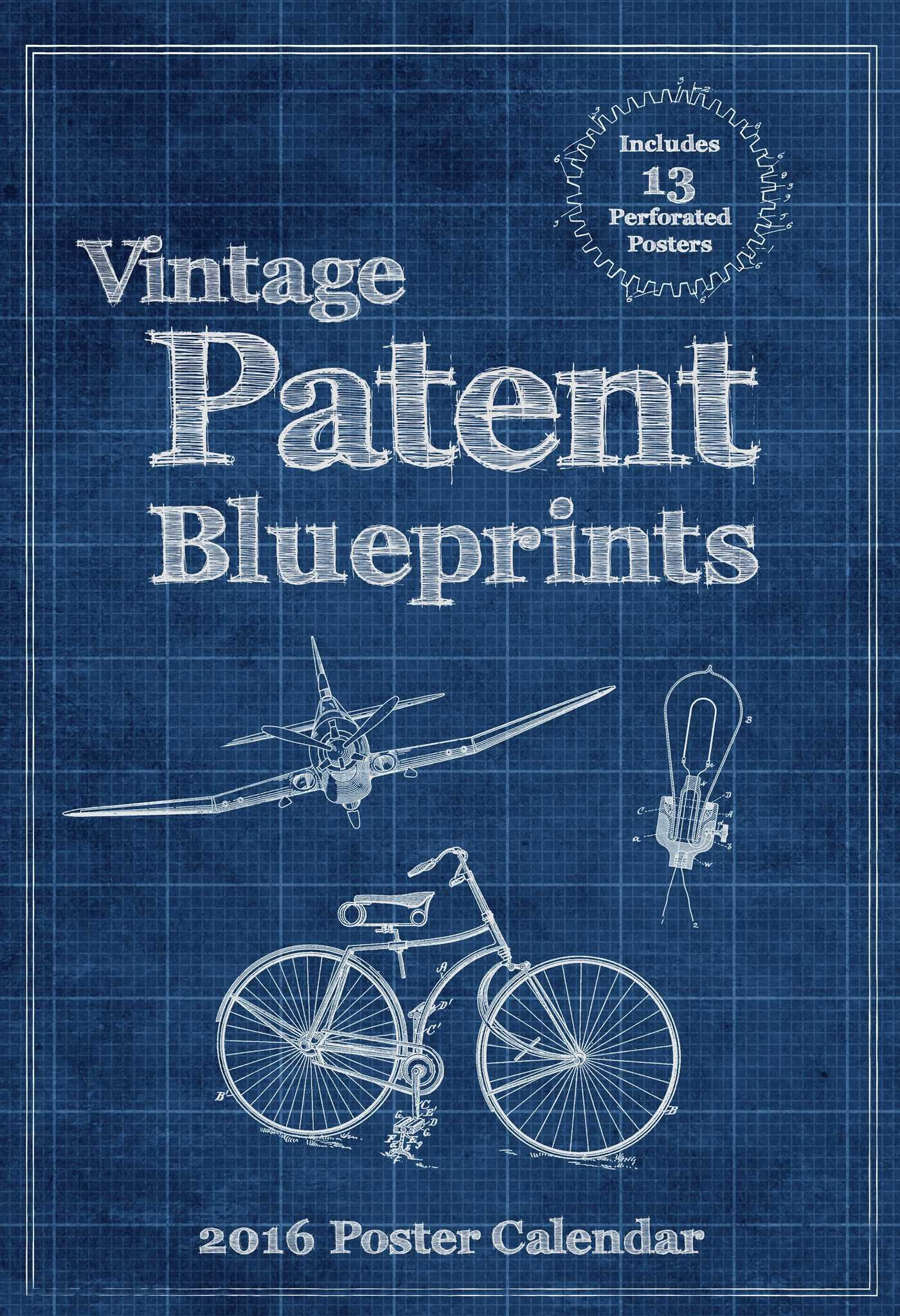 Vintage patent blueprints 2016 poster calendar art remedy llc vintage patent blueprints 2016 poster calendar art remedy llc 0050837343412 amazon books malvernweather