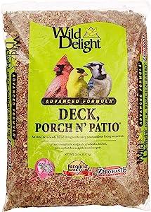 Wild Delight Deck, Porch N' Patio No Waste Bird Food, 20 lb-(374200)