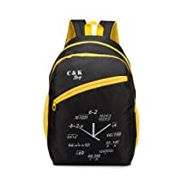 Chris & Kate Black Spacious School Bag | College Bag | Casual Backpack (28 litres) (CKB_119SS)