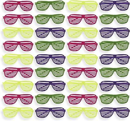 Amazon.com: Neón anteojos de fiesta – 36 unidades – 4 ...