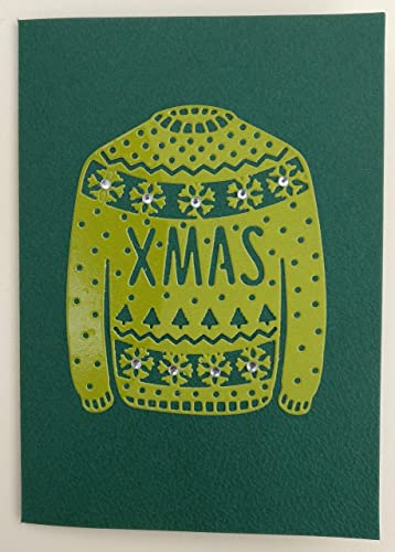 Handmade tactile Christmas Jumper card with personalised