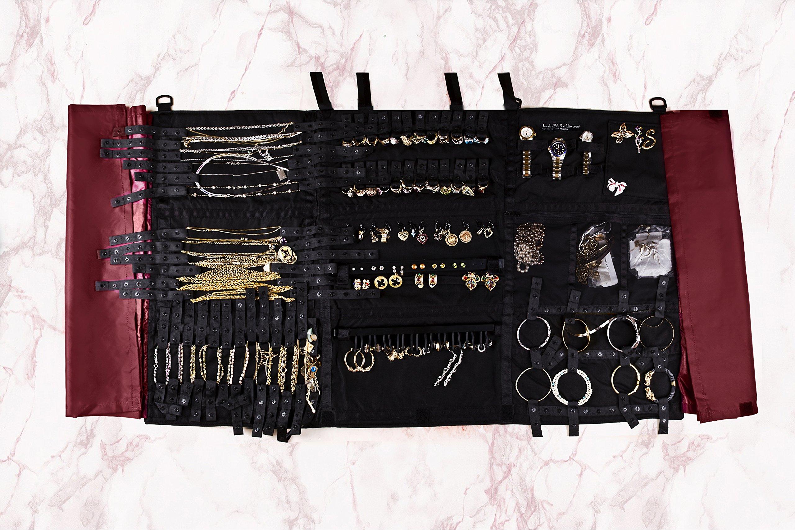 Folding Foldable Storage Case Jewelry Organizer by Jewelry File Portfolio 21 Century Holds over 117 pieces Securely by JewelryFilePortfolio organizer (Image #7)