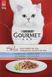 Purina Gourmet Mon Petit comida para gatos con Bacalao, Sardina y Salmón 8 x [