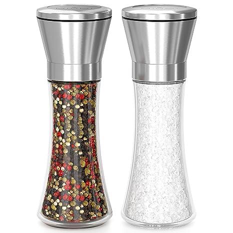 Amazon.com: Juego de molinillo de sal y pimienta de calidad ...
